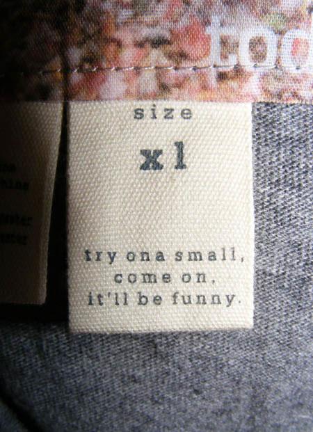 To XL, ale przymierz mniejszą, będzie zabawnie! /materiały prasowe