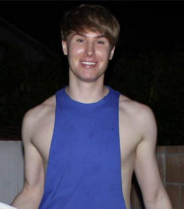 Toby Sheldon chciał wyglądać jak Justin Bieber // Facebook /&nbsp /