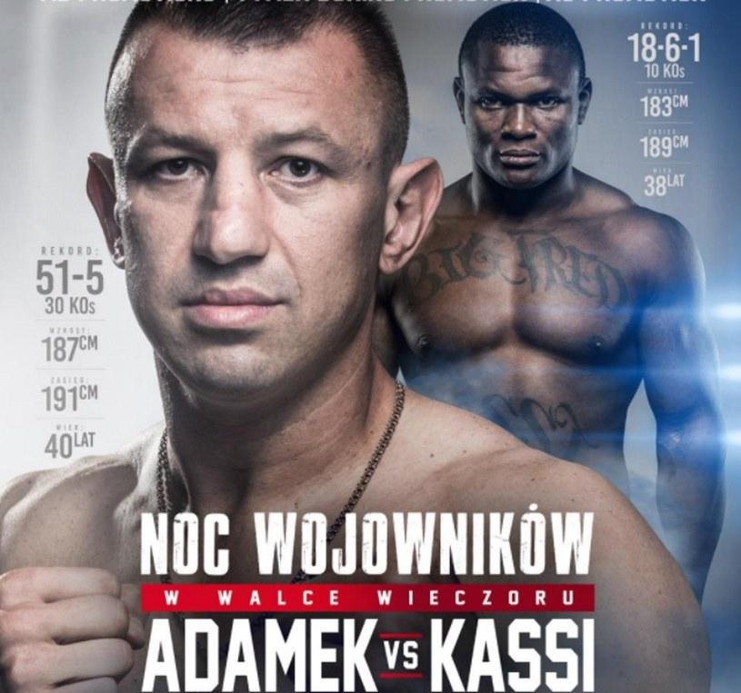 Tomasz Adamek (na pierwszym planie) i Fred Kassi /Twitter/MB Promotions /