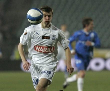 Tomasz Bandrowski to prawdziwe wzmocnienie Lecha. Fot. I. Dorożański. /Agencja Przegląd Sportowy