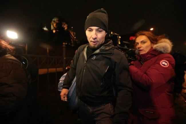 Tomasz Dziemianczuk opuszcza areszt /ANATOLY MALTSEV  /PAP
