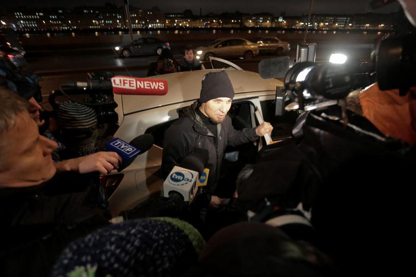 Tomasz Dziemiańczuk po wyjściu z aresztu /Laski Diffusion /East News