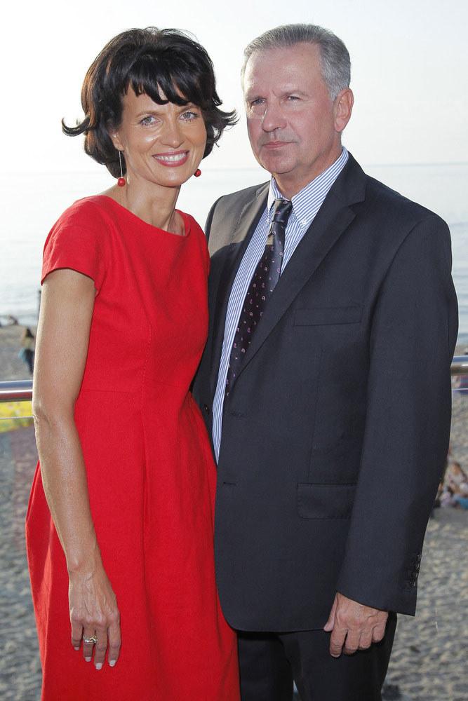 Tomasz i Ewa wyglądają na bardzo szczęśliwych  /Mieszko Piętka /AKPA