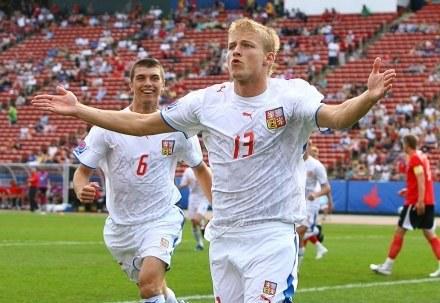 Tomasz Miczola cieszy się ze zdobycia gola /AFP