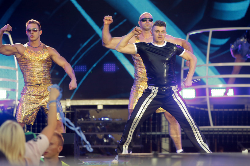 Tomasz Niecik na Disco Hit Festival Kobylnica 2014 /AKPA
