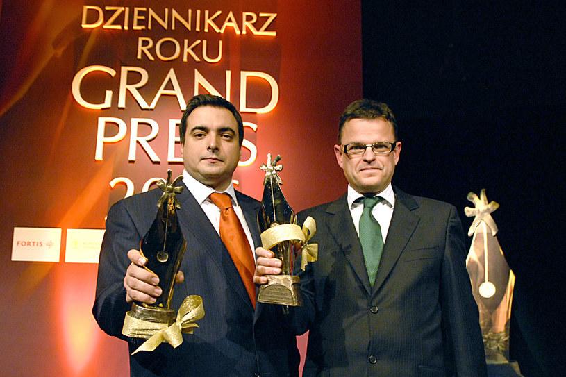 Tomasz Sekielski i Andrzej Morozowski otrzymali w 2006 roku tytuł Dziennikarzy Roku Grand Press 2006. /AKPA