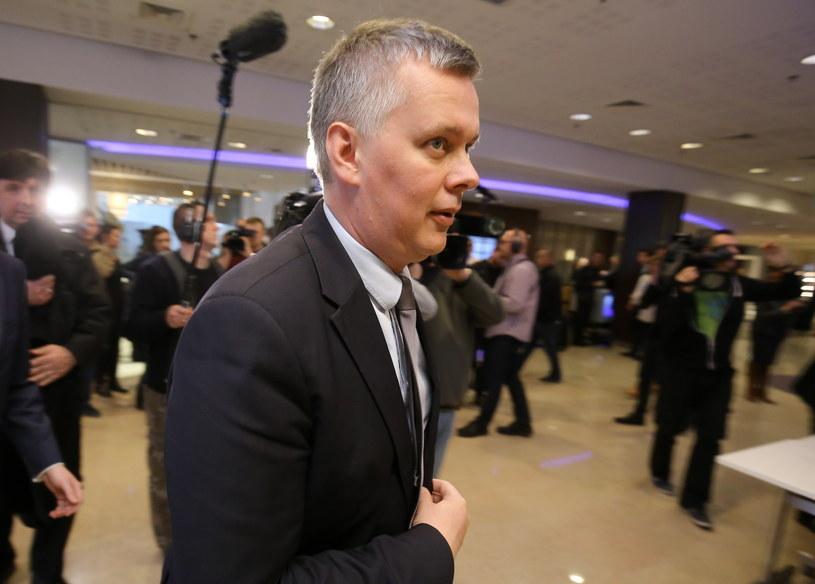 Tomasz Siemoniak w drodze na posiedzenie Rady Krajowej PO /Paweł Supernak /PAP