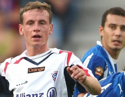 Tomasz Zahorski był bohaterem meczu w Wodzisławiu /Agencja Przegląd Sportowy
