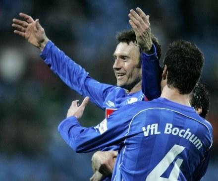 Tomasz Zdebel cieszy się po strzeleniu gola /AFP