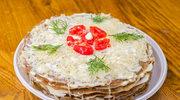 Tort naleśnikowy na pikantnie