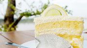 Tort z kremem cytrynowym