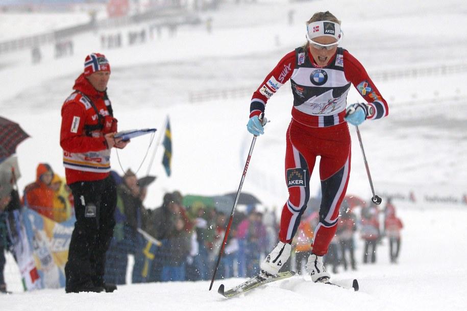 Tour de Ski 2014. Na trasie: Norweżka Therese Johaug /ANDREA SOLERO /PAP/EPA