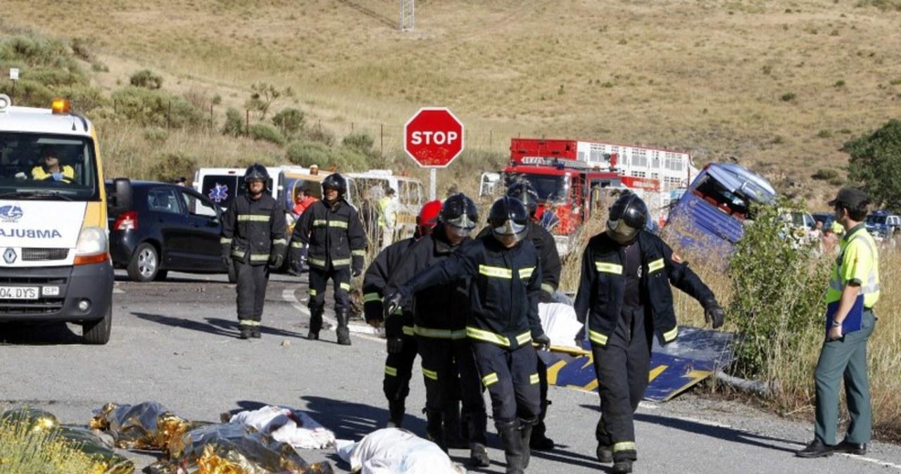 Tragiczny wypadek autokaru w Hiszpanii. Zginęło dziewięć osób