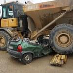 Tragiczny wypadek na budowie A1. 44-latka wjechała pod ciężarówkę