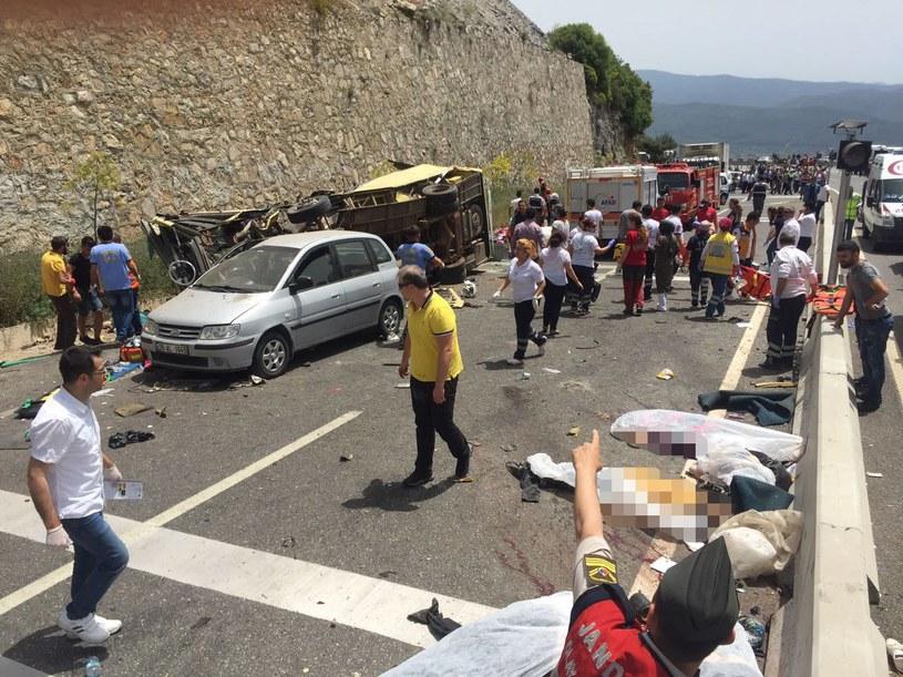 Tragiczny wypadek w Turcji /DURMUS GENC  /PAP/EPA
