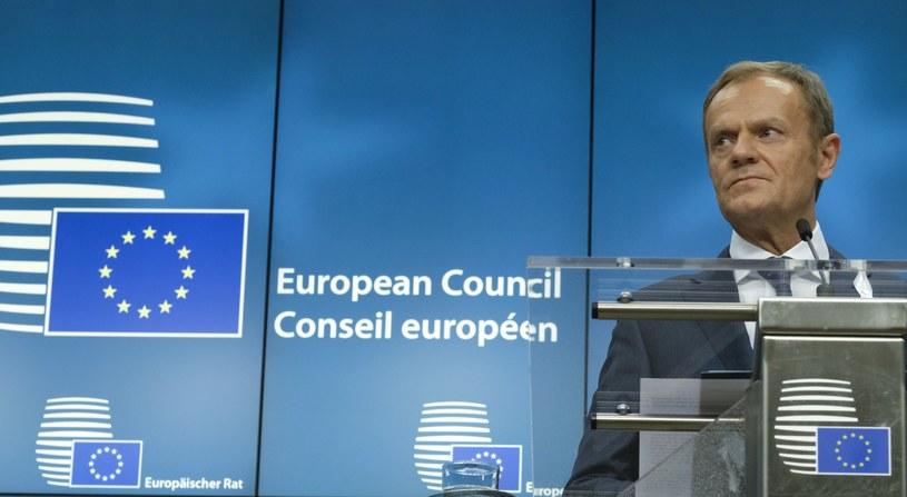 """""""Traktujemy tę sprawę bardzo poważnie"""" - powiedział szef Rady Europejskiej Donald Tusk /ARIS OIKONOMOU / POOL EPA-EFE /PAP/EPA"""