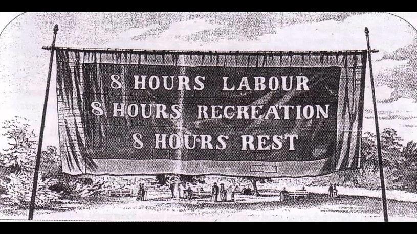 Transparent z XIX wieku: 8 godzin pracy, 8 godzin rekreacji, 8 godzin odpoczynku /YouTube