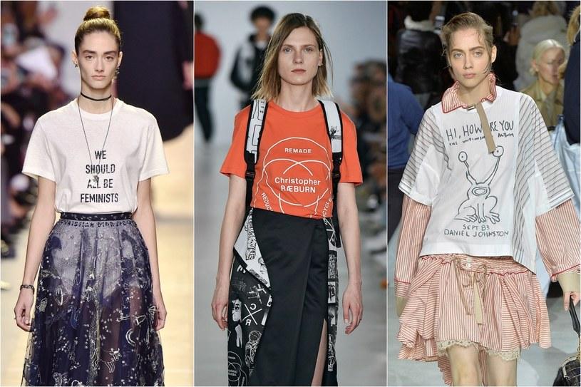 Trend sezonu: T-shirt z nadrukiem /©123RF/PICSEL