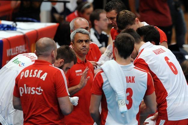 Trener  Andrea Anastasi  (w środku) mógł być zadowolony z postawy swoich podopiecznych. /AFP
