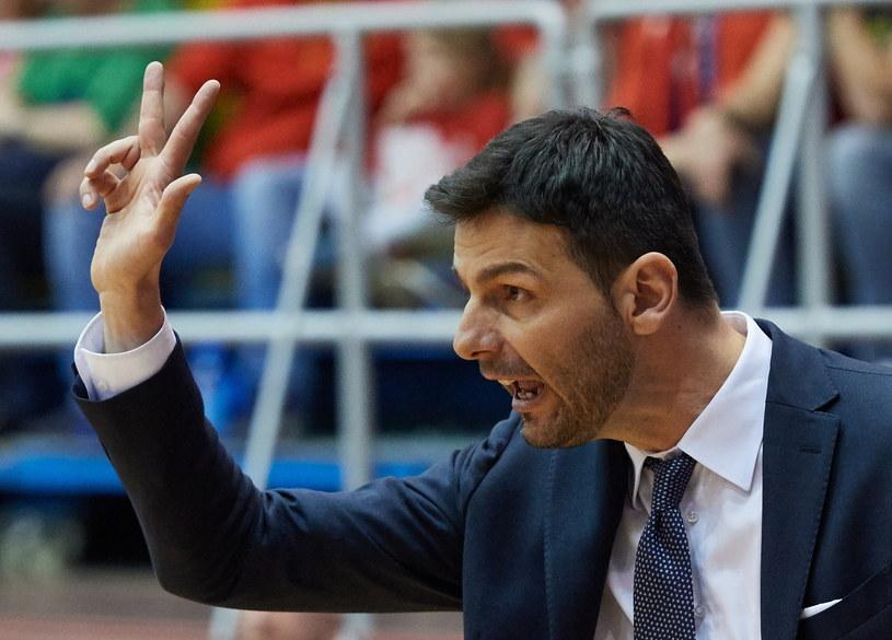 Trener Anwilu Igor Milicić /Fot. Adam Warżawa /PAP