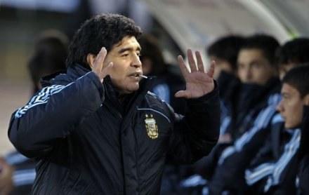 Trener Argentyny Diego Armando Maradona /AFP