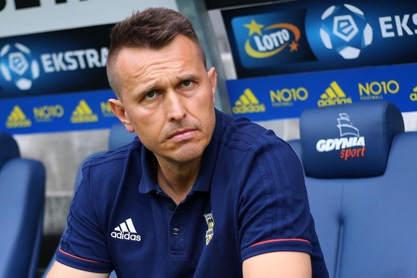 Trener Arki Gdynia Leszek Ojrzyński /Fot. Piotr Matusewicz /East News