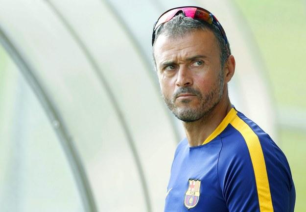 Trener Barcelony Luis Enrique Trener Barcelony Luis Enrique