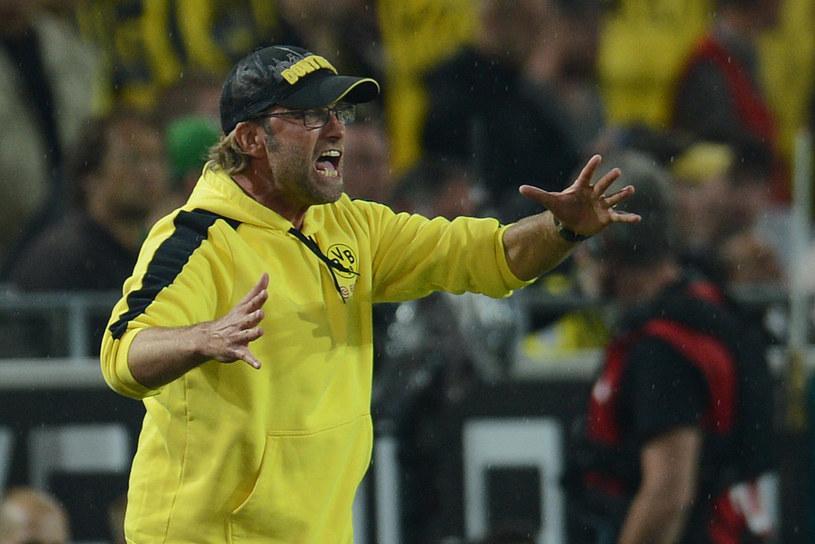 Trener Borussii Dortmund Juergen Klopp czasem reaguje zbyt emocjonalnie na boisku /AFP