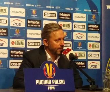 Trener Brzęczek po 1-2 z Wisłą Kraków w PP
