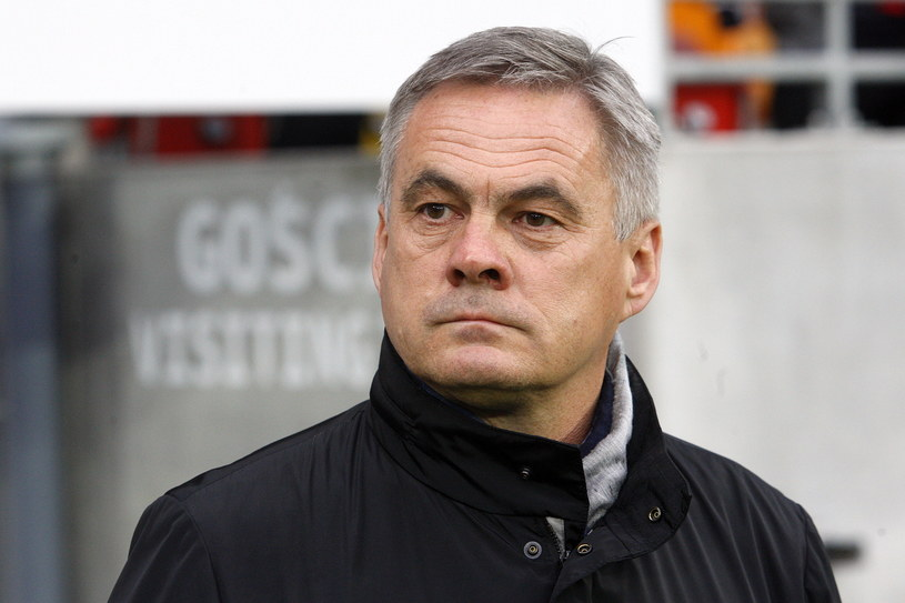 Trener Cracovii Jacek Zieliński /Fot. Artur Reszko /PAP