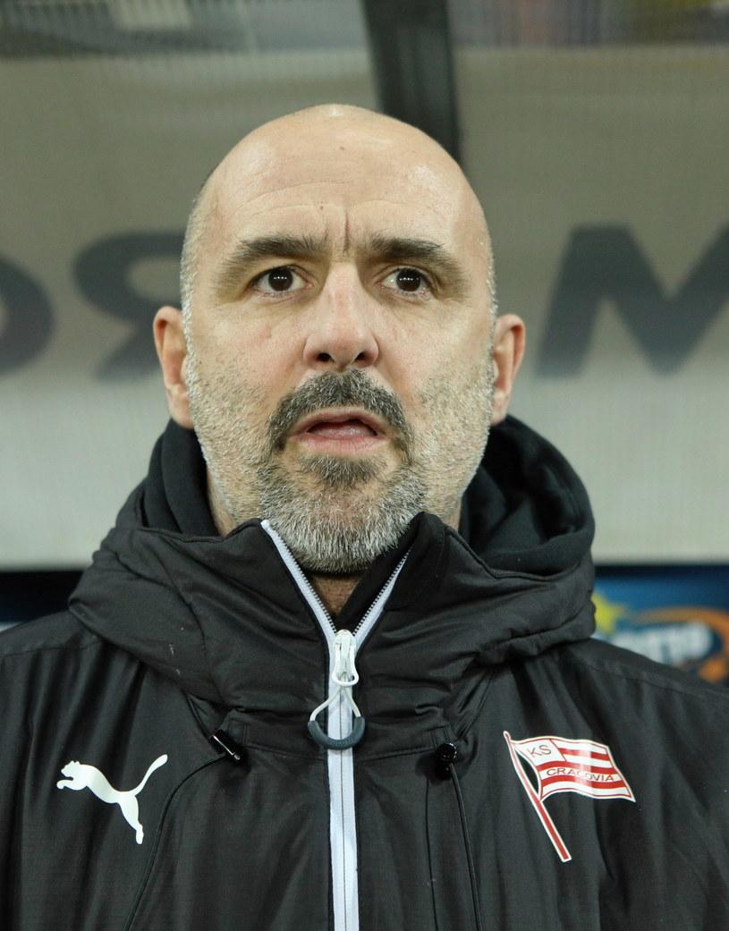 Trener Cracovii Michał probierz /Stanisław Rozpędzik /PAP