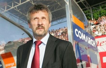 Trener Cracovii Stefan Majewski Fot. Łukasz Grochala /Agencja Przegląd Sportowy