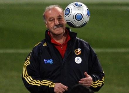 Trener Hiszpanii Vicente del Bosque /AFP