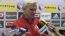 Trener Jacek Magiera o Łukaszu Masłowskim