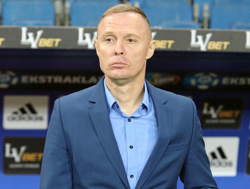Trener Jagiellonii Białystok Ireneusz Mamrot /Stanisław Rozpędzik /PAP