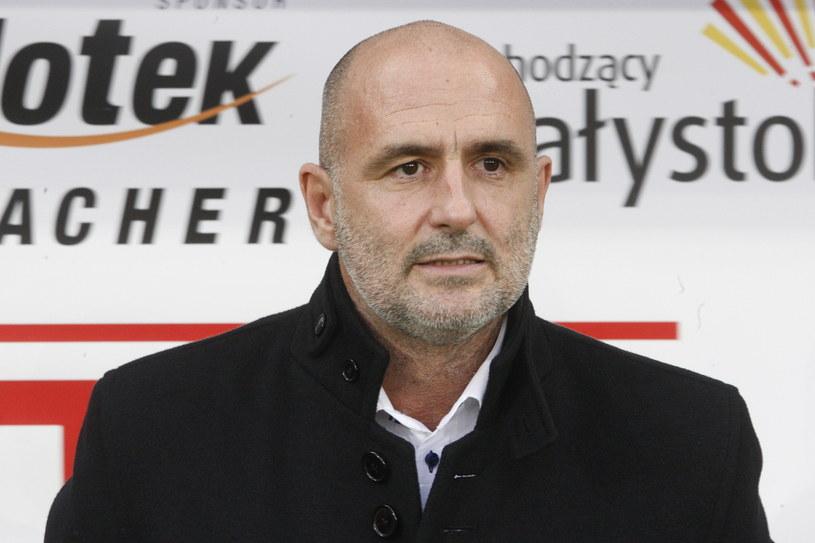 Trener Jagiellonii Białystok Michał Probierz /Fot. Artur Reszko /PAP