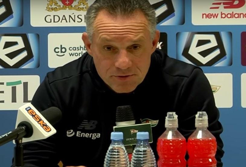 Trener Lechii Piotr Nowak. /