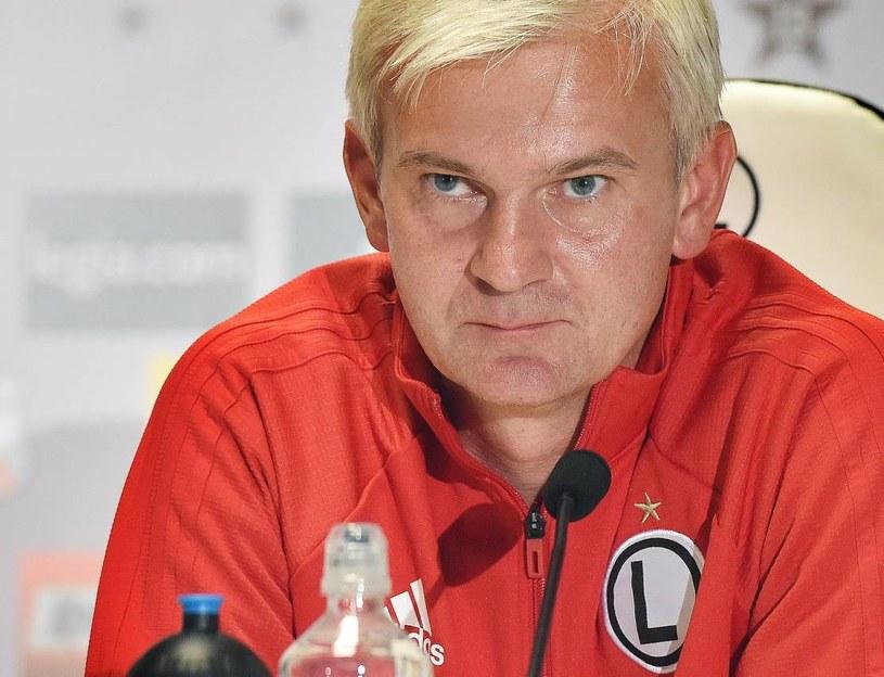 Trener Legii Warszawa Jacek Magiera /Radek Pietruszka /PAP