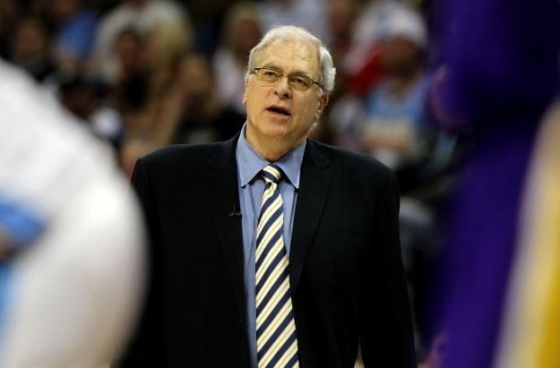 Trener Los Angeles Lakers - Phil Jackson /AFP