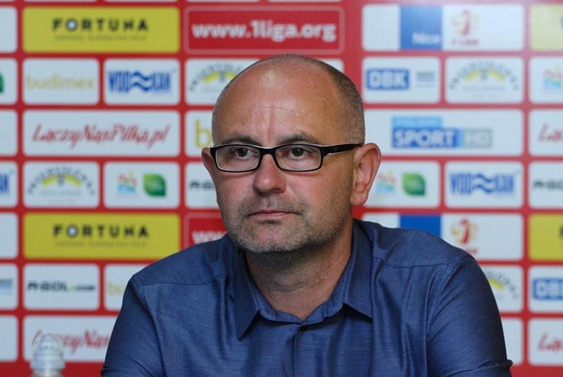 Trener Miedzi Legnica Dominik Nowak /Fot. Artur Szczepański/REPORTER /East News