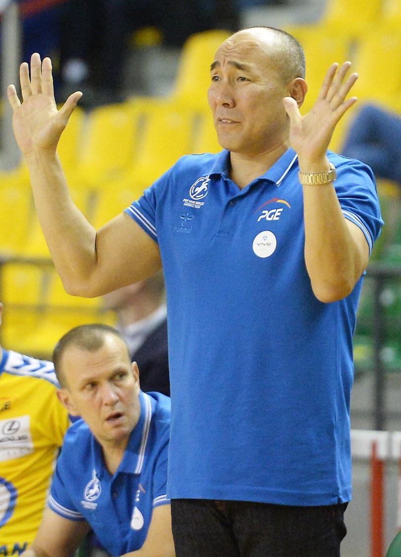 Trener PGE Vive Kielce Tałant Dujszebajew /Piotr Polak /PAP