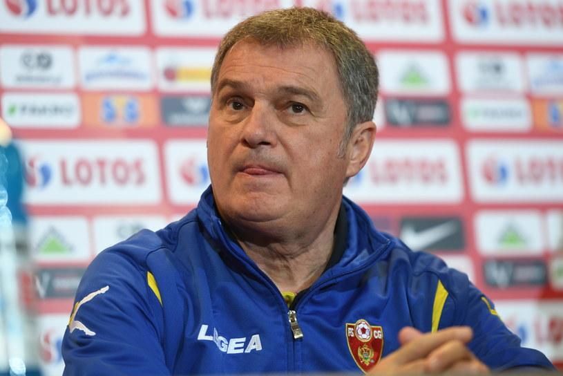 Trener piłkarskiej reprezentacji Czarnogóry Ljubisza Tumbaković /Bartłomiej Zborowski /PAP