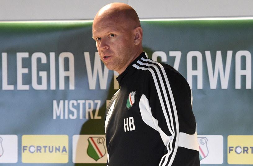Trener piłkarzy Legii Henning Berg /Radek Pietruszka /PAP