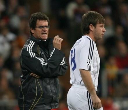 Trener Realu Madryt Fabio Capello i Antonio Cassano /AFP