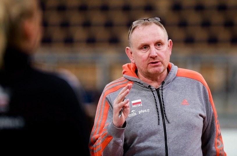 Trener reprezentacji Jacek Nawrocki /Małgorzata Kujawka /