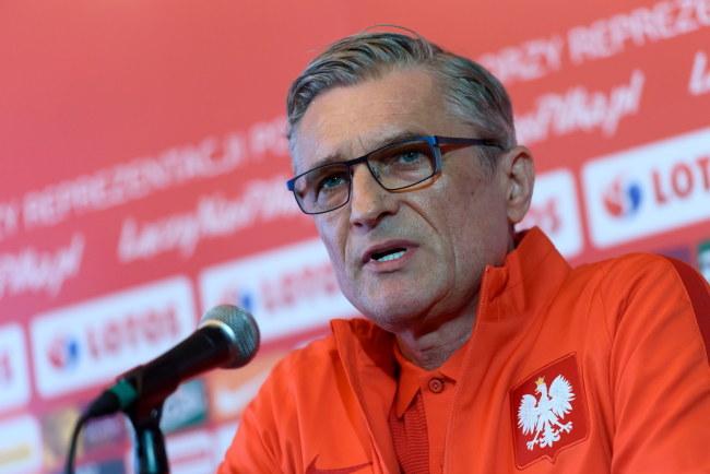 Trener reprezentacji Polski Adam Nawałka /Jakub Kaczmarczyk /PAP