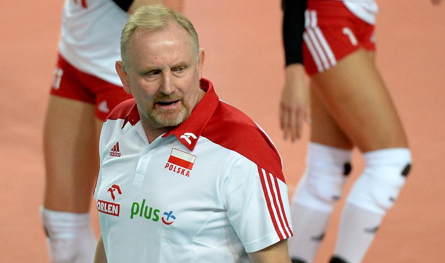 Trener reprezentacji Polski Jacek Nawrocki /Piotr Polak /PAP