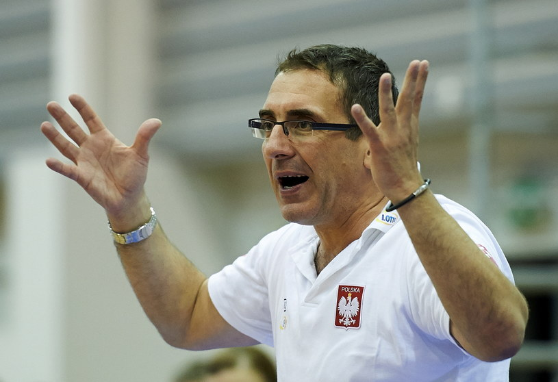 Trener reprezentacji Polski koszykarek Jacek Winnicki /Fot. Adam Warżawa /PAP