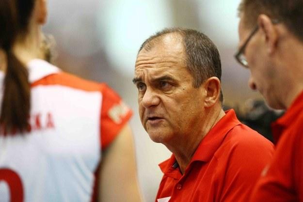 Trener reprezentacji Polski siatkarek Jerzy Matlak /www.fivb.org