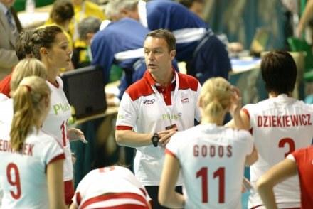 Trener reprezentacji Polski siatkarek Marco Bonitta Fot. Rafał Bała /Agencja Przegląd Sportowy